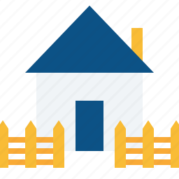 estate, fencing, home, property, railing, real, safe icon