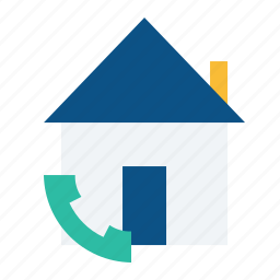 call, emergency, estate, home, property, real, service icon