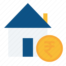 building, estate, home, house, property, real, rupee icon