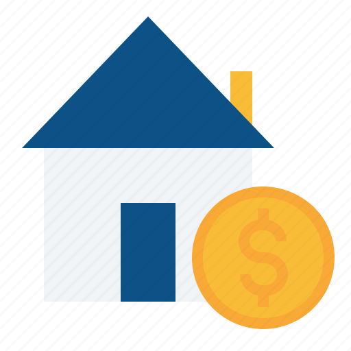 dollar, estate, home, house, rate, real, rent icon