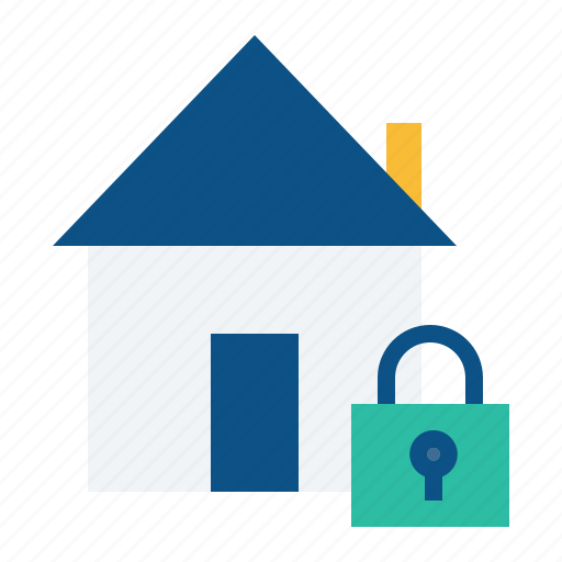 building, estate, home, lock, real, safe, secure icon