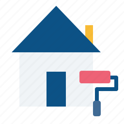 colour, estate, home, job, painting, real, rent icon
