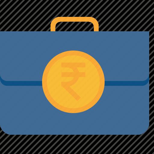 bag, cash, deal, finanace, income, money, rupee icon