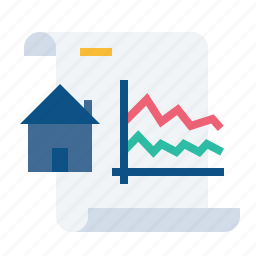 analysis, decrease, document, growth, paper, property, rate icon