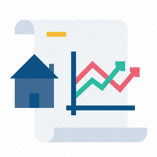 Analysis, document, growth, increase, paper, property, rate icon - Download on Iconfinder