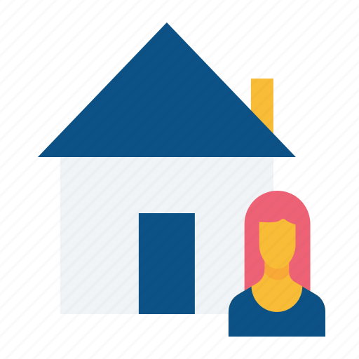 buyer, estate, home, house, male, rent, seller icon