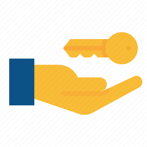 agreement, deal, give, hand, handover, key, property icon