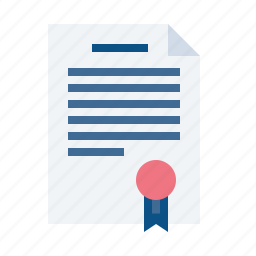 agreement, business, certificate, contract, document, paper, signature icon