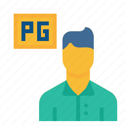 boy, guest, home, house, man, payingguest, rent icon