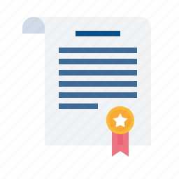 agreement, certificate, contract, deal, document, paper, signature icon