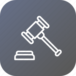 auction, deal, estate, mallet, property, real, rent icon