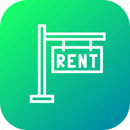 board, building, house, notice, rent, sign icon