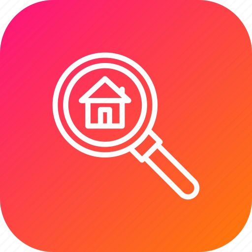 find, gps, home, location, magnify, navigate, search icon