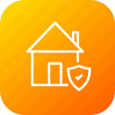 building, guard, home, house, insurance, property, protected icon