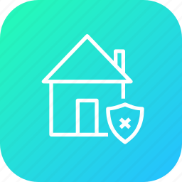 estate, home, house, property, protection, rent, unsafe icon