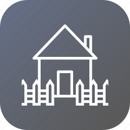 estate, fencing, home, house, railing, rent, safe icon