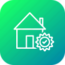 estate, home, house, real, rent, trust, verify icon