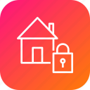 building, estate, home, lock, property, safe, secure icon