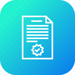 agreement, certificate, contract, deal, document, signature, trust icon