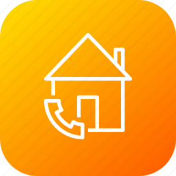 building, call, emergency, estate, home, rent, service icon