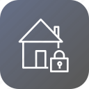estate, home, lock, property, rent, safe, secure icon
