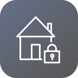 estate, home, lock, property, rent, safe, secure icon