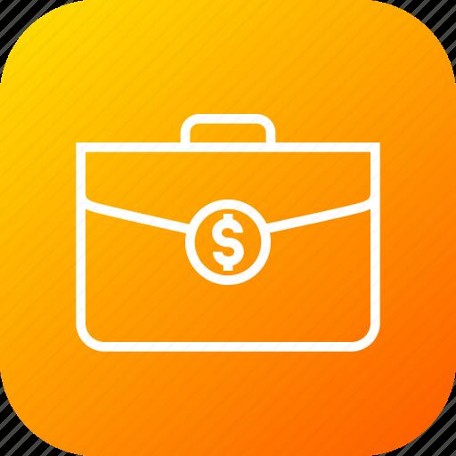 bag, contract, deal, dollar, finanace, income, money icon