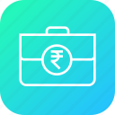bag, cash, contract, deal, income, money, rupee icon
