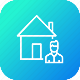 building, buyer, estate, home, house, male, seller icon
