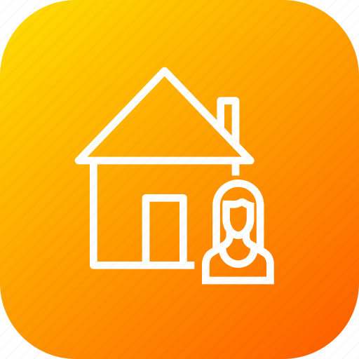building, buyer, estate, home, male, sell, seller icon