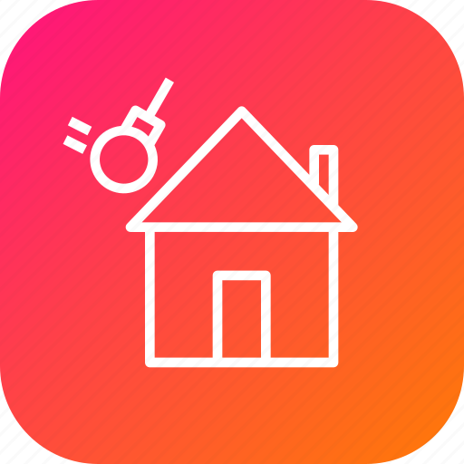 estate, home, house, quality, strength, test, wind icon