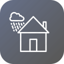 cloud, cloudy, home, house, rainproof, waterproof, wind icon