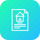 address, deal, document, estate, home, house, paper icon