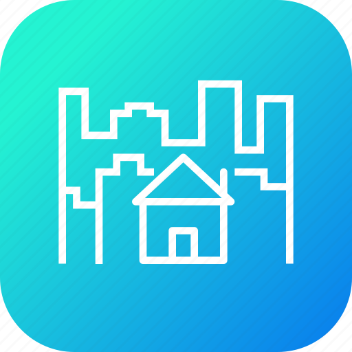 building, city, estate, home, house, property, residential icon
