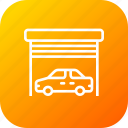 car, garage, home, parking, vehicle, warehouse icon