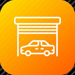 car, garage, home, parking, vehicle, warehouse icon