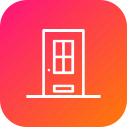 delivery, door, enterance, estate, home icon