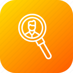 broker, buyer, estate, magnifier, man, search, seller icon