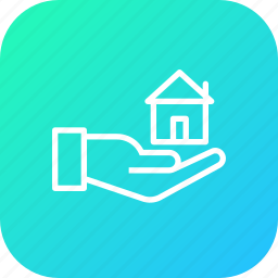 agreement, give, hand, handover, home, house, key icon