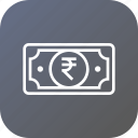 cash, currency, finance, money, note, payment, ruppee icon