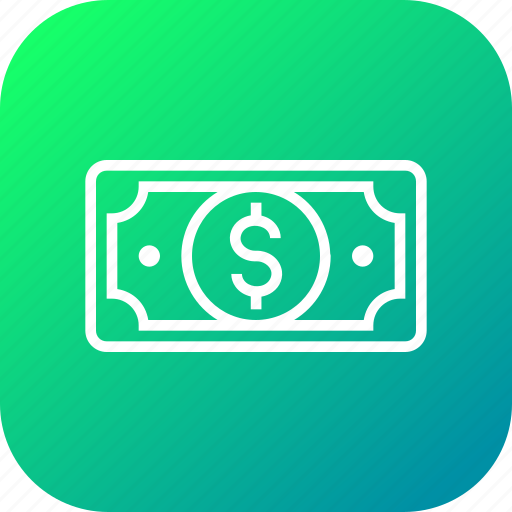 cash, currency, dollar, finance, money, note, payment icon