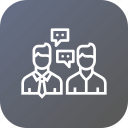 agent, broker, buyer, chat, communication, home, seller icon