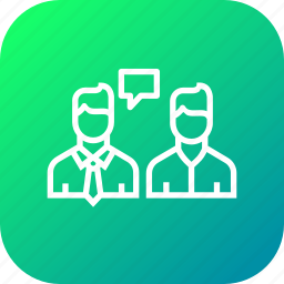 agent, broker, buyer, chat, communication, house, seller icon