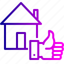 building, deal, done, estate, home, house, real icon