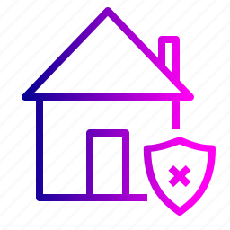 estate, home, house, property, protection, real, unsafe icon