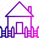 building, fencing, home, house, property, railing, safe icon