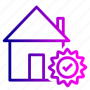 building, estate, house, real, rent, trust, verify icon
