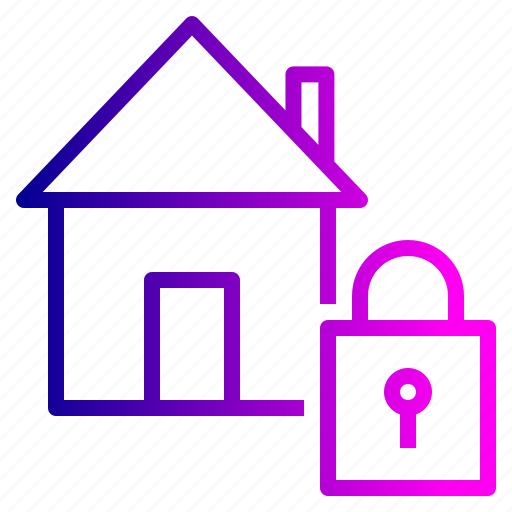 estate, house, lock, property, real, safe, secure icon