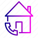 call, emergency, estate, home, house, real, service icon