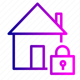 estate, home, house, lock, real, safe, secure icon